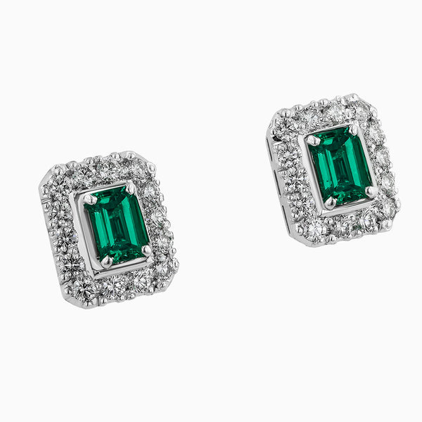 image for the diamond and emerald earrings err0177
