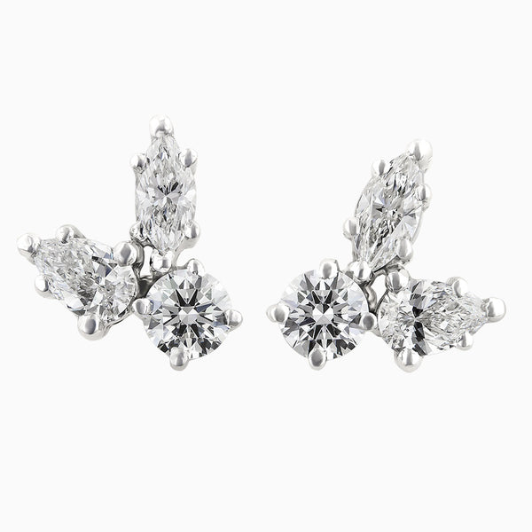 ERR0178 Diamond Earrings with Three Brilliant Shapes