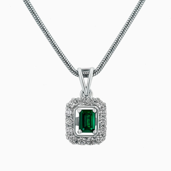 Image for the diamond Pendant pds0192 with Emerald
