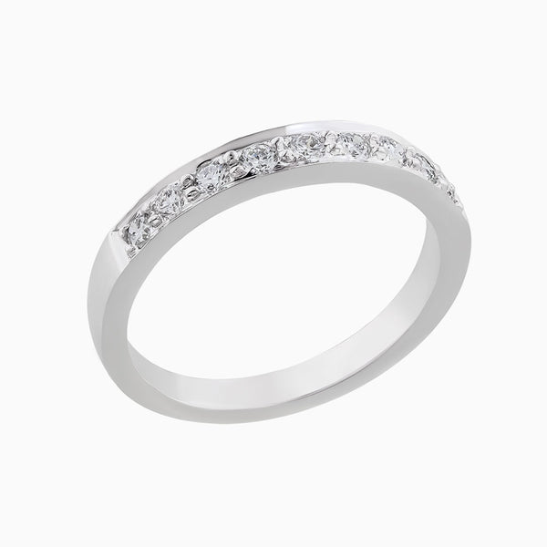 Image for the White gold diamond ring band rrb0009