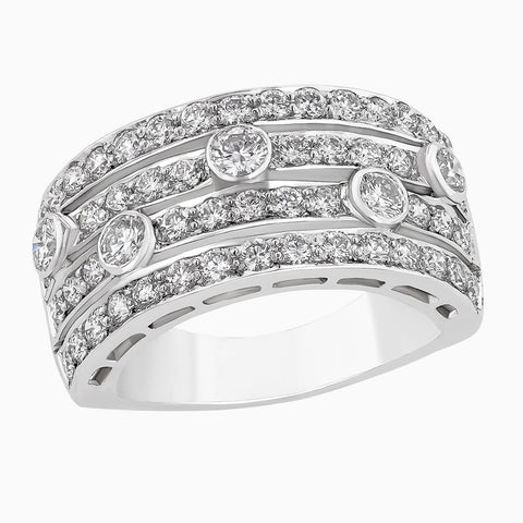 RRB0037 Four Array Diamond Ring Band