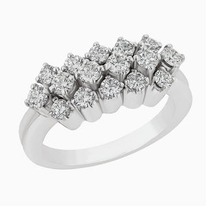 Image for the Diamond Ring Band rrb0066 in White gold