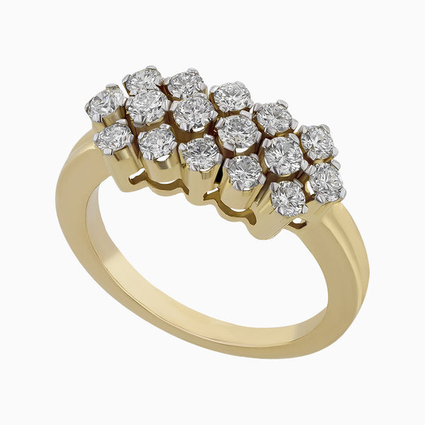 Image for the diamond ring band rrb0066 in yellow gold
