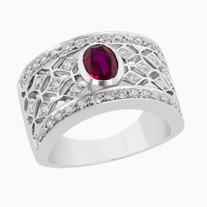 RRB0074 Timeless Bezel Ruby Ring Band