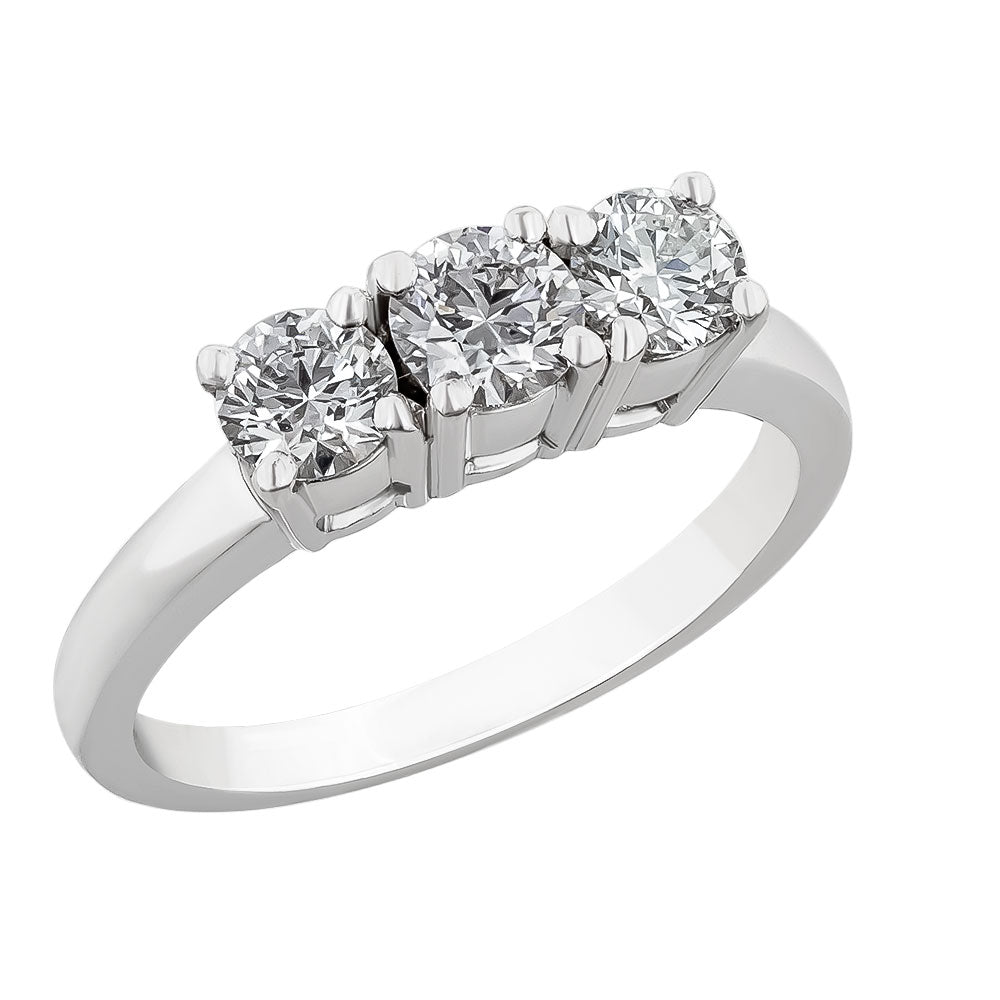 Image for the three diamond ring band rrb0104