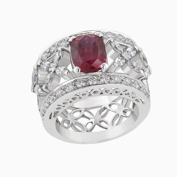 RRB0110 Diamond & Ruby Ring