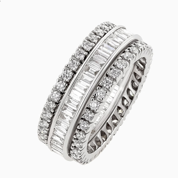 RRB0162-Round Diamonds & Baguettes Eternity Band
