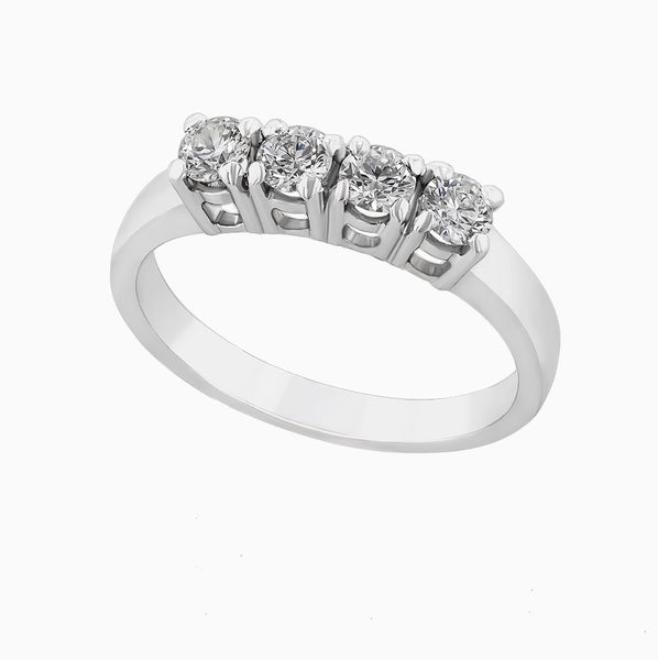 Image for the four diamond ring band rrb0169 -second view