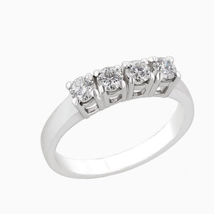 Image for the four diamond ring band rrb0169