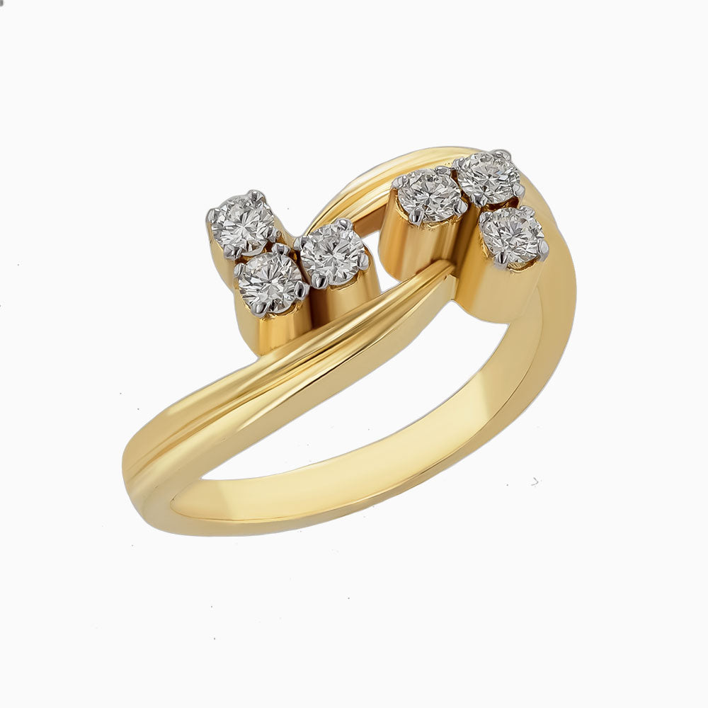 Image for the diamond ring rrr0056  in yellow gold