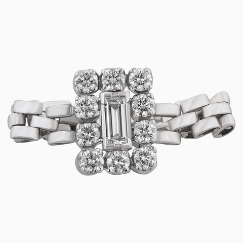 Image for the Baguette and round diamond ring rrr0057 in cartier band