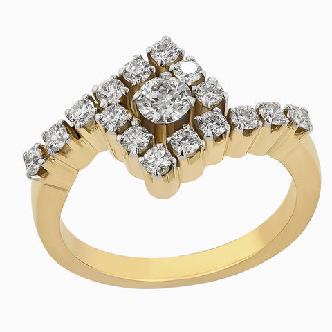 RRR0064 Yellow Gold Diamond Ring