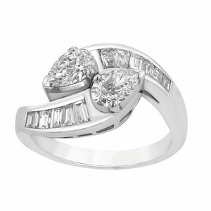 Image for the pear and baguette diamonds ring rrr0096
