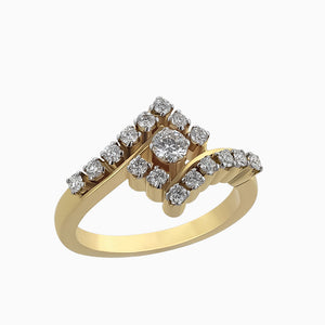 RRR0107 Yellow Gold Diamond Ring