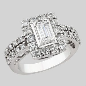 Image for the Baguette and Round Diamonds ring rrr0189