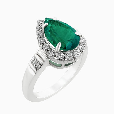 Image for the Emerald & Diamonds Ring RRR0216