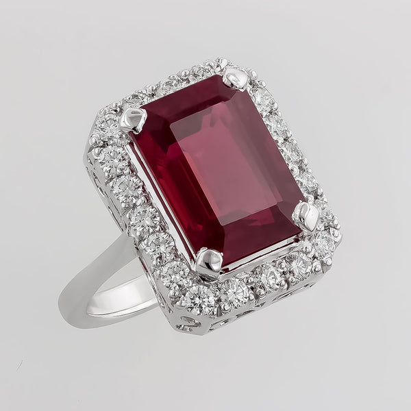 RRR0270 Ruby & Diamond Ring