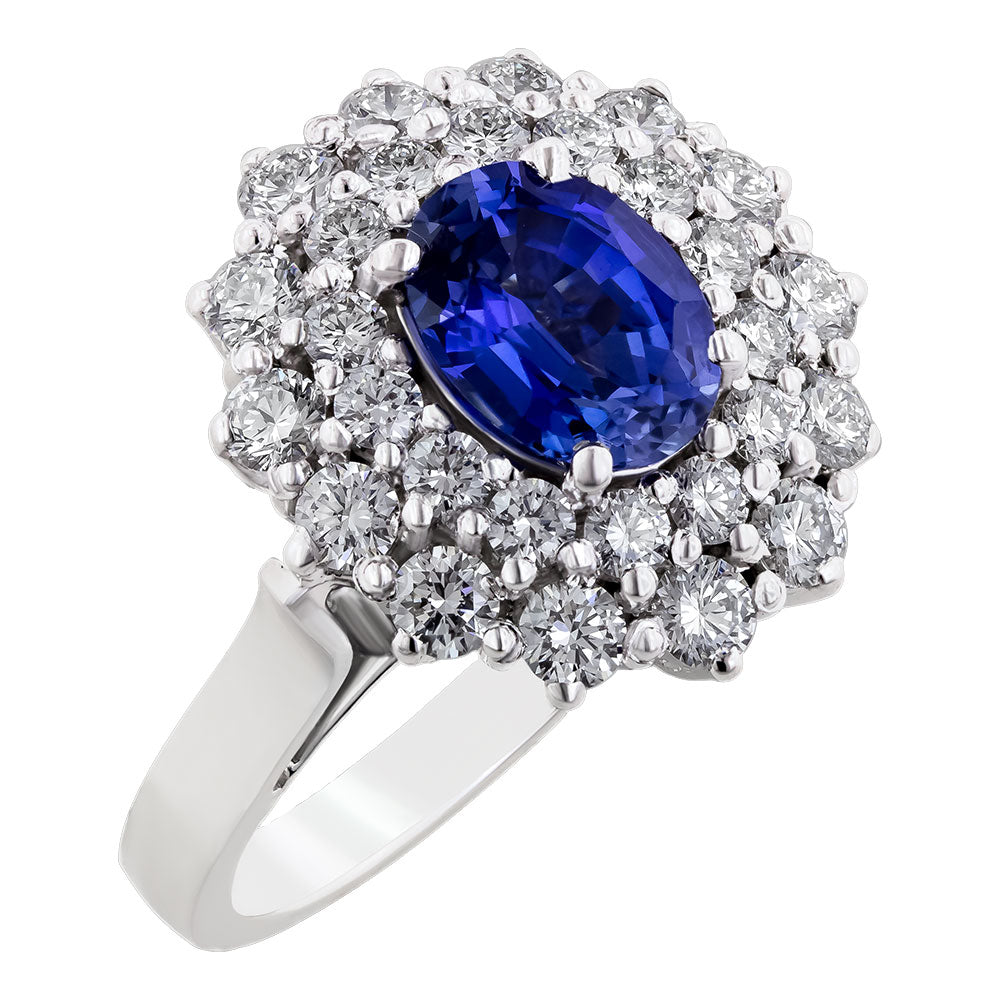 Image for the Blue Sapphire and Diamonds ring rrr0276