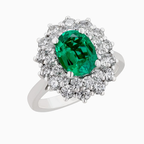 Image for the Emerald and Diamond Ring RRR0276