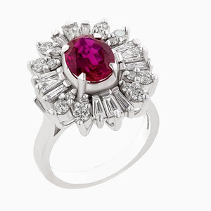 image for the Ruby and Diamond Ring RRR0449