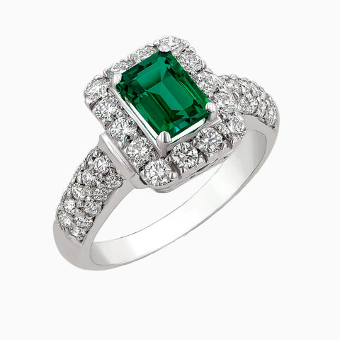 Image for the Emerald and Diamonds Ring RRS0254