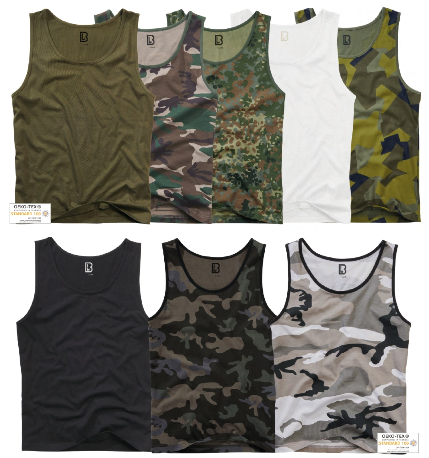 2-pack Brandit Tank top (7 Colors | s - 5xl) T-shirt Brandit