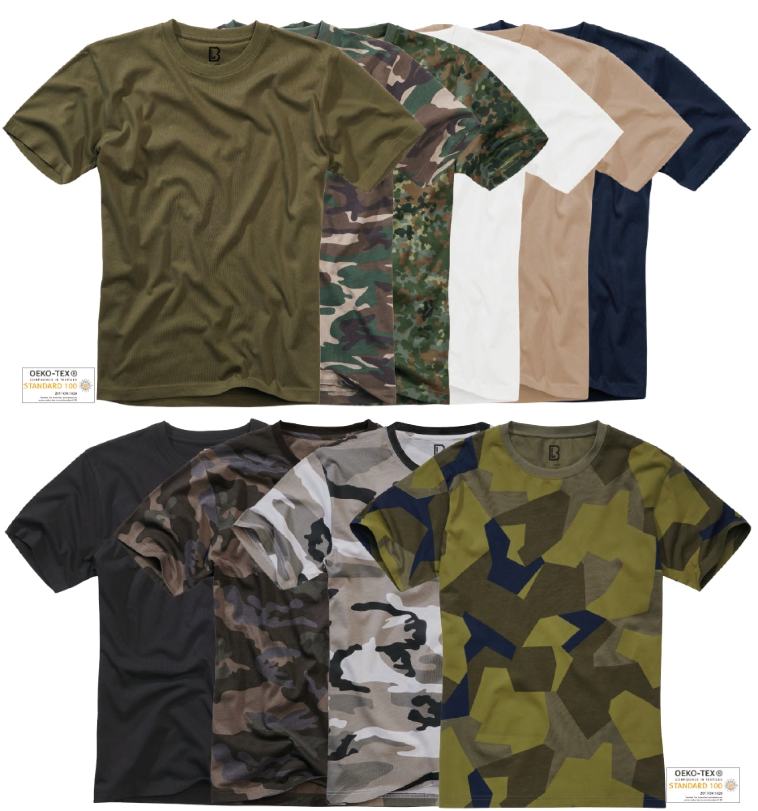 3-pack Brandit T-shirt (8 Colors | s - 7xl) T-shirt Brandit
