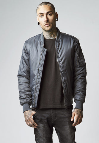 Basic Bomber Jacket Cool Grey / S Jacket Urban Classics