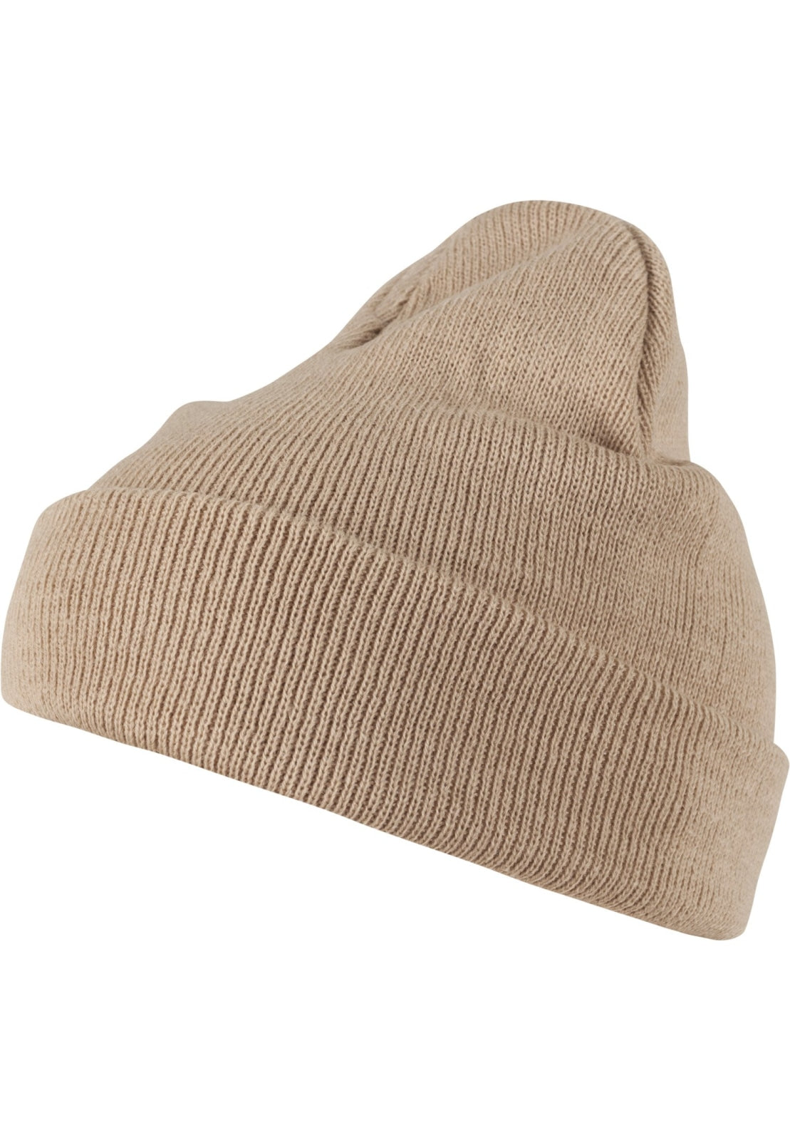Beanie Pastel Basic Flap (5 Colors) Cappuccino / One Size Headwear Masterdis