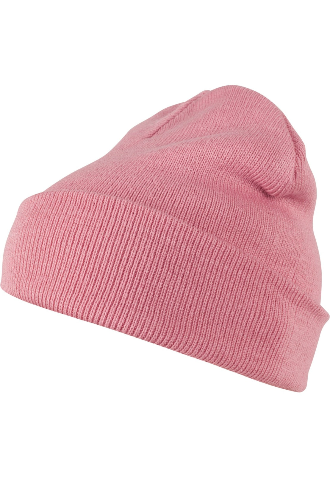 Beanie Pastel Basic Flap (5 Colors) Light Pink / One Size Headwear Masterdis