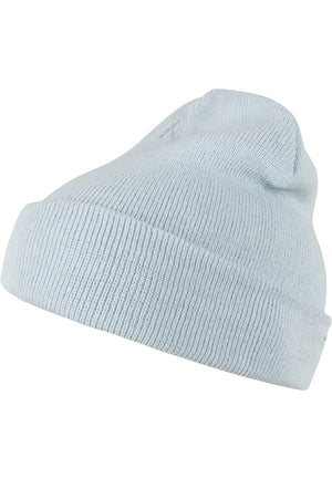 Beanie Pastel Basic Flap (5 Colors) Iced Blue / One Size Headwear Masterdis