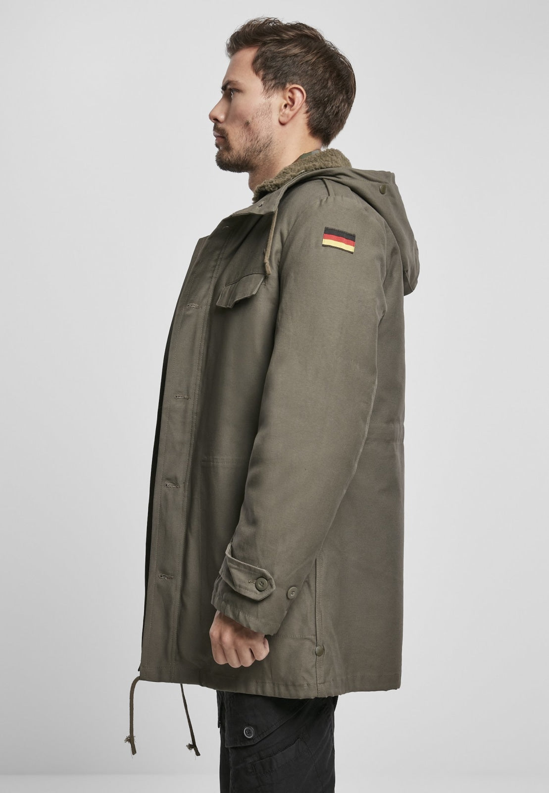 Bw Military Parka German Flag Olive / s Jacket Heavy Brandit