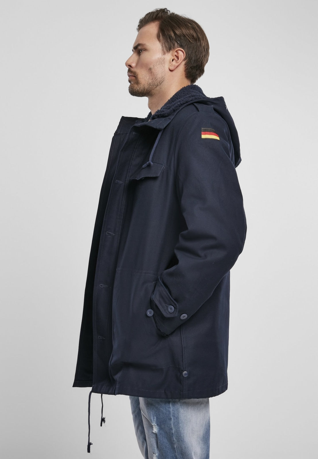 Bw Military Parka German Flag Navy / s Jacket Heavy Brandit