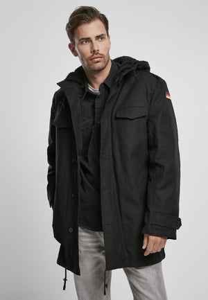 Bw Military Parka German Flag Black / s Jacket Heavy Brandit