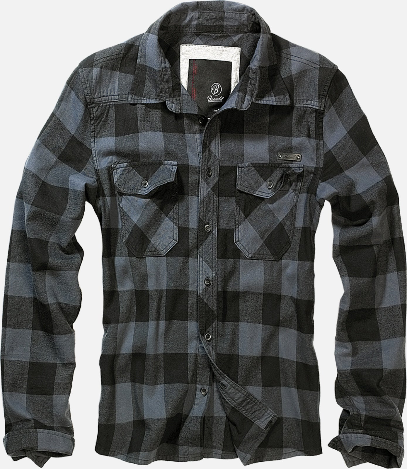 Check Shirt Black / S Brandit Top Brandit