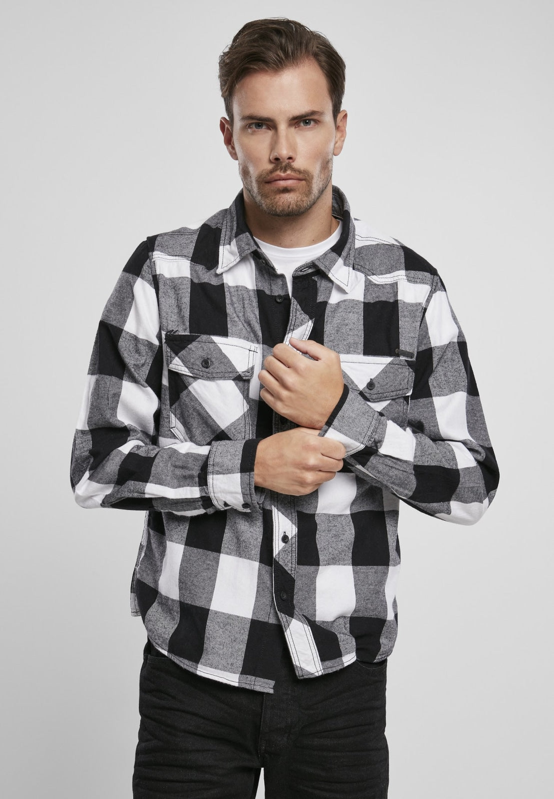 Check Shirt Black/white / s Brandit top Brandit