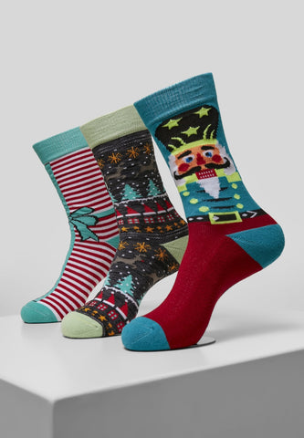Christmas Nutcracker Socks 3-pack Xmas Urban Classics