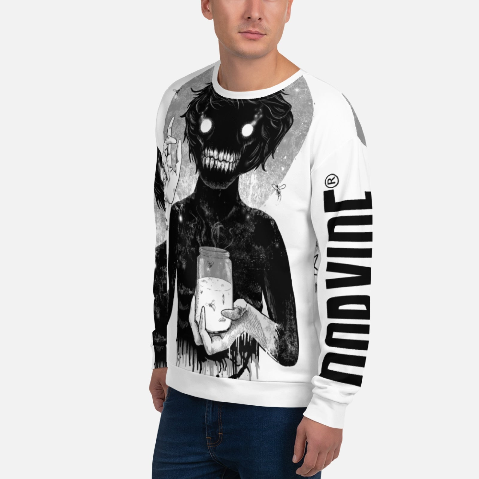Creep Unisex Hand Sewn All over Print Sweatshirt Sweatshirt Norvine