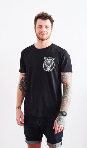 Drunk Deer S / Black T-Shirt Norvine