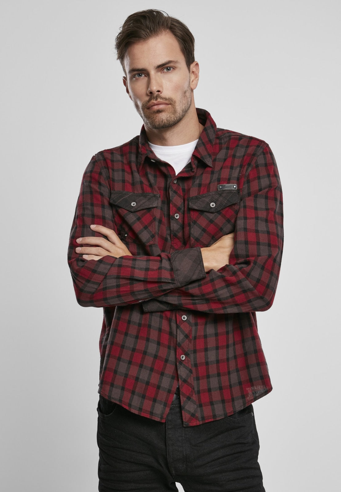 Duncan Checked Shirt Red/brown / s Shirt Brandit