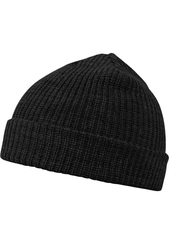Fisherman Beanie Black Headwear Masterdis