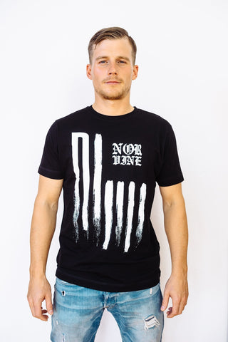 Flag S / Black T-Shirt Norvine