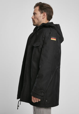 German Flag Army Bw Parka - Black Jacket Winter Brandit