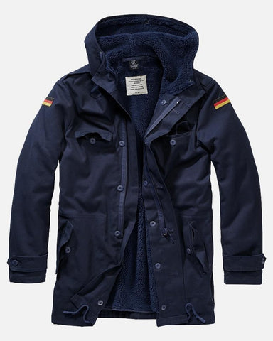 German Flag Army Parka - Navy Navy / S Jacket Brandit