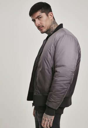Gradient Bomber Jacket Black/grey / S Jacket Urban Classics