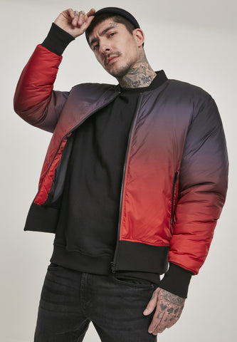 Gradient Bomber Jacket Firered/black / S Jacket Urban Classics