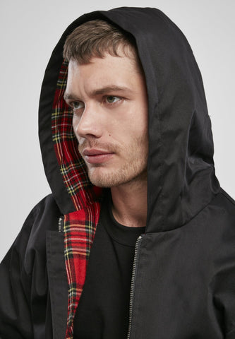 Hooded Harrington Jacket Black / s Jacket Brandit