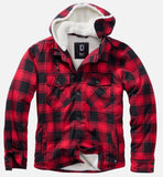 Hooded Lumber Jacket Red / s Jacket Brandit