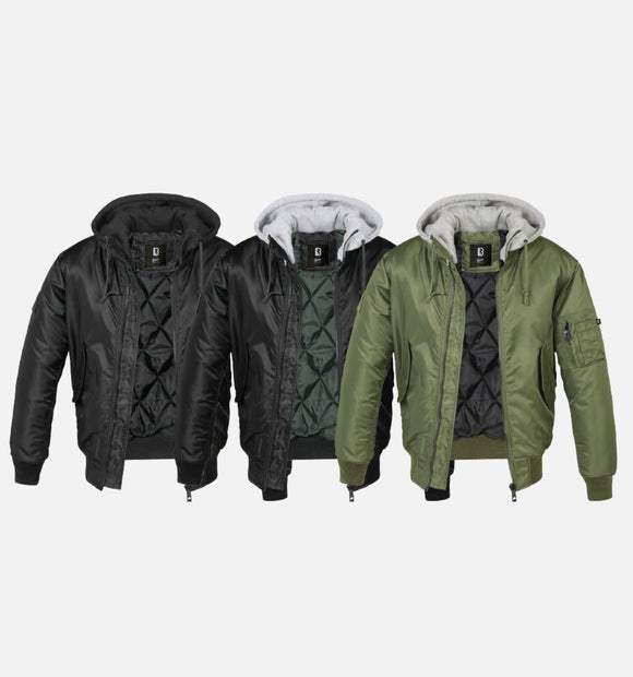 Hooded Ma1 Bomber Jacket Jacket Winter Brandit