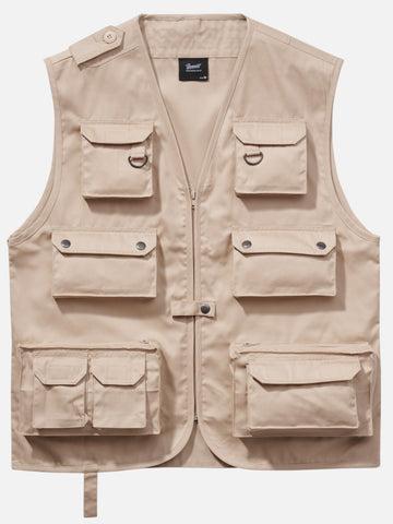 Hunting Vest (3 Colors) Beige / s Brandit top Brandit